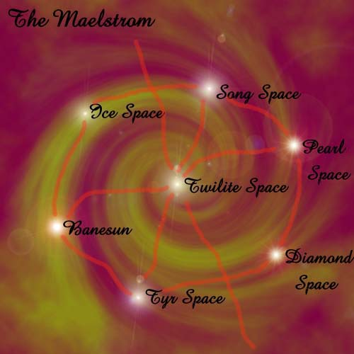 "{$tags} Mappa del Maelstrom - by Adam ""Night Druid"" Miller Reocities.com (2005) © dell'autore"